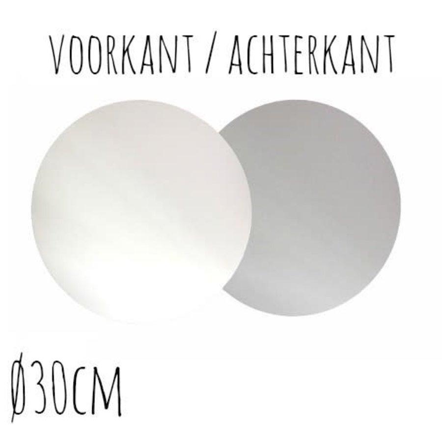 Taartonderzetter Wit / Zilver Ø30 cm per stuk-1