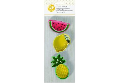 Ananas, Citroen en Watermeloen Uitsteker Set door Wilton