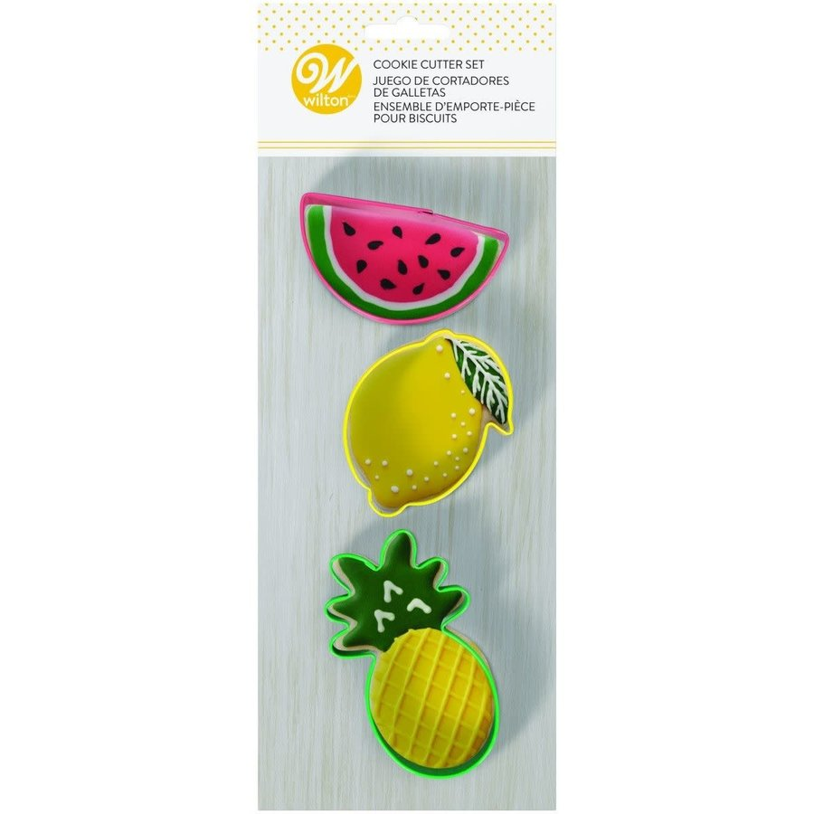 Ananas, Citroen en Watermeloen Uitsteker Set door Wilton-1