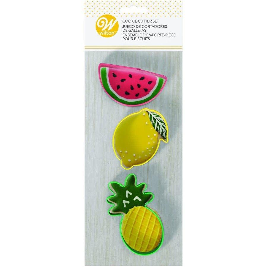 Ananas, Citroen en Watermeloen Uitsteker Set door Wilton-2