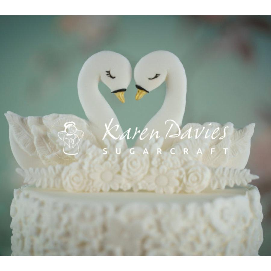 Swans zwaan Cookie Mould Karen Davies-1