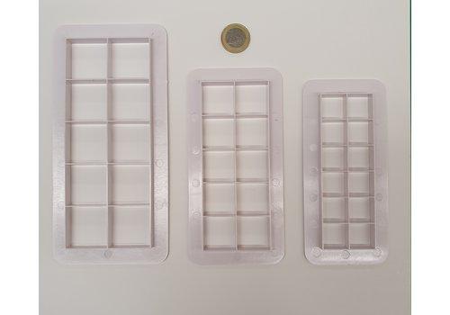 Uitsteker vierkanten set 3 stuks