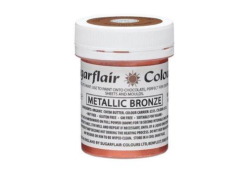 Sugarflair Chocolade Verf Metallic Brons 35g