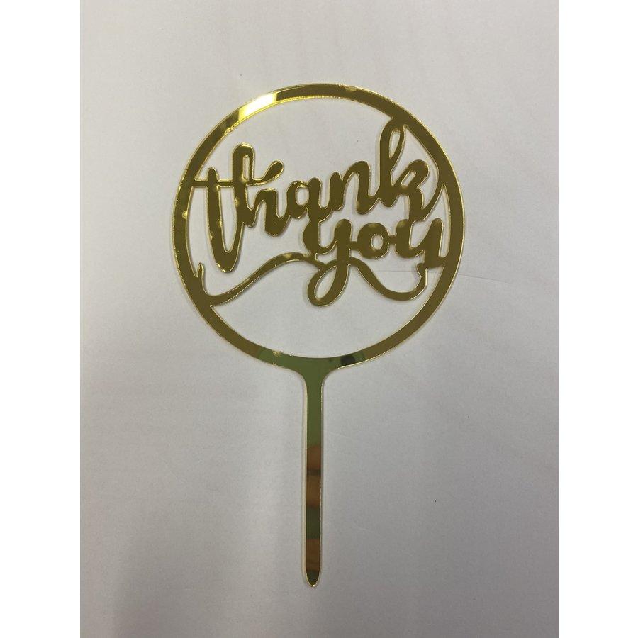 Thank you rond acryl goud-1
