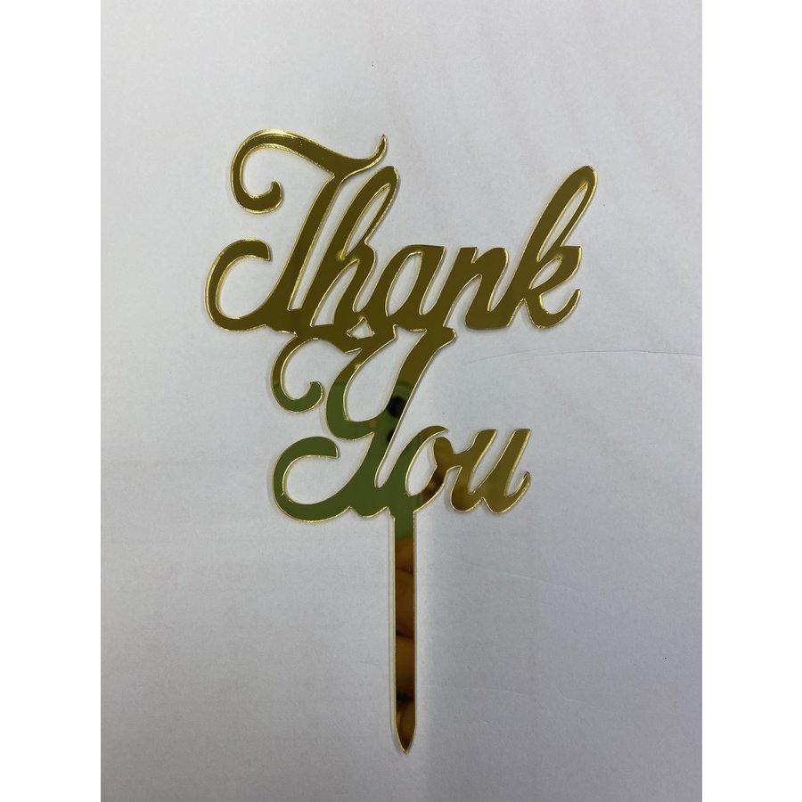 Thank you acryl goud-1
