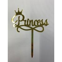 Princess topper acryl goud
