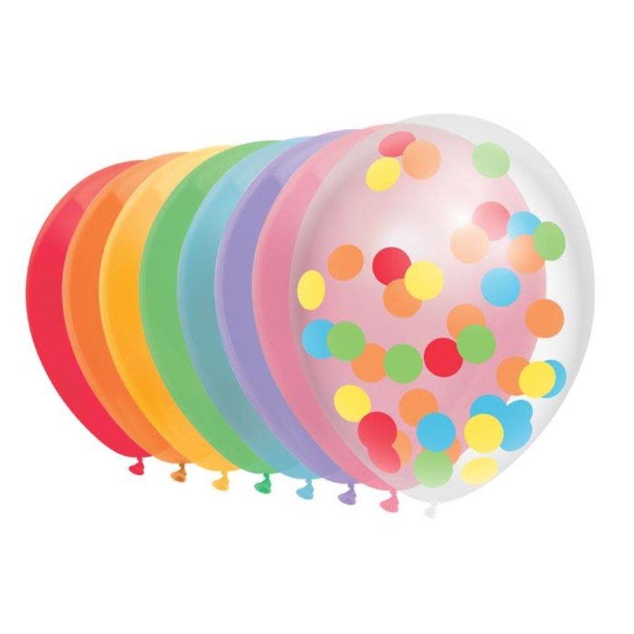 Ballonnen mix Over the rainbow 10 stuks-1
