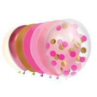Ballonnen mix Princess pink 10 stuks