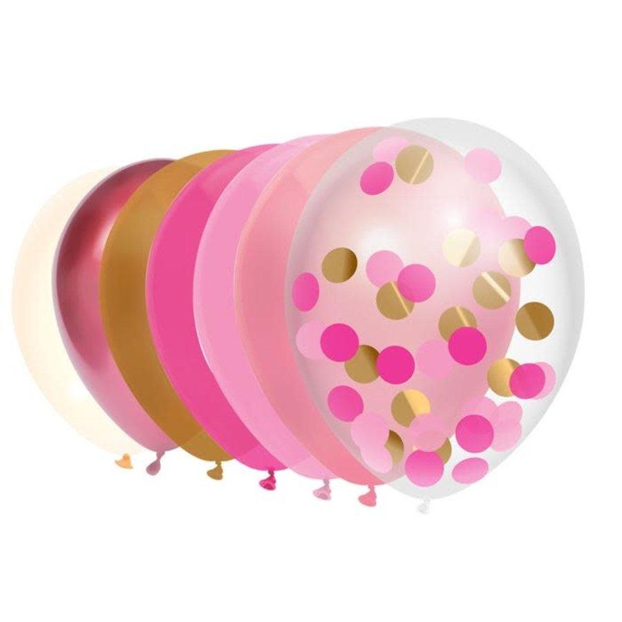 Ballonnen mix Princess pink 10 stuks-1