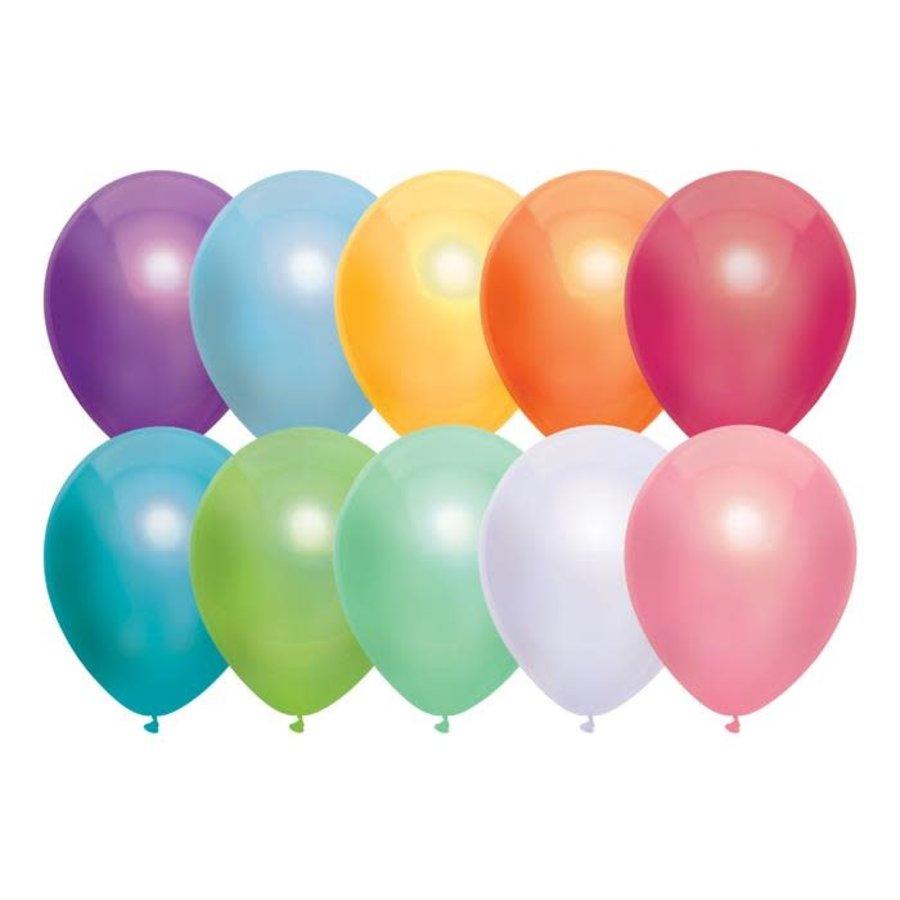 Ballonnen Metallic Assorti 30cm 10st-1