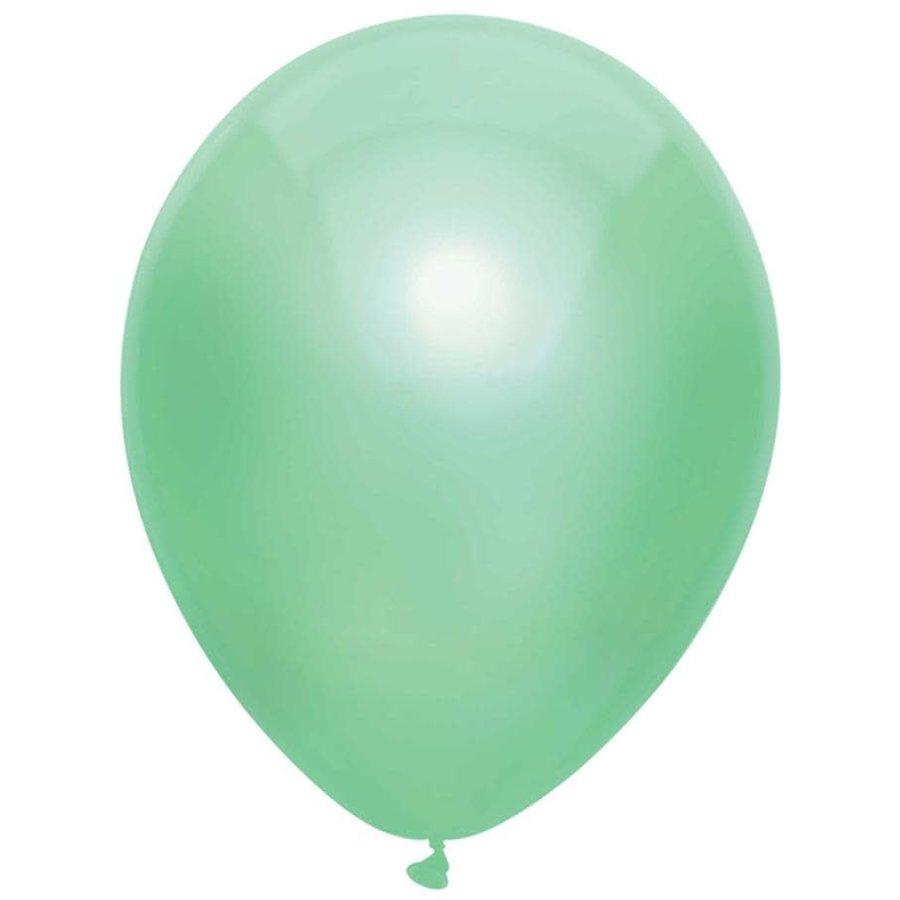 Ballonnen Metallic Mint 30cm 10st-1