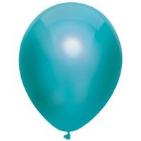 Ballonnen Metallic Teal 30cm 10st