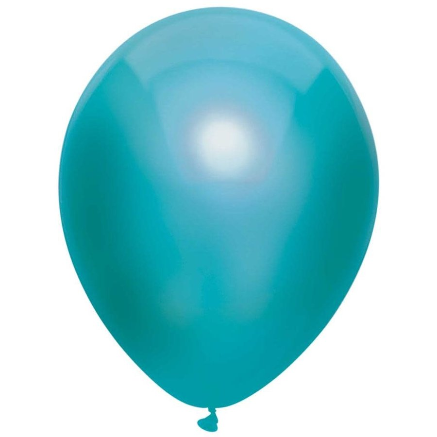 Ballonnen Metallic Teal 30cm 10st-1