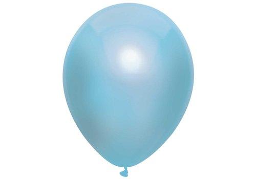 Ballonnen Metallic Licht Blauw 30cm 10st