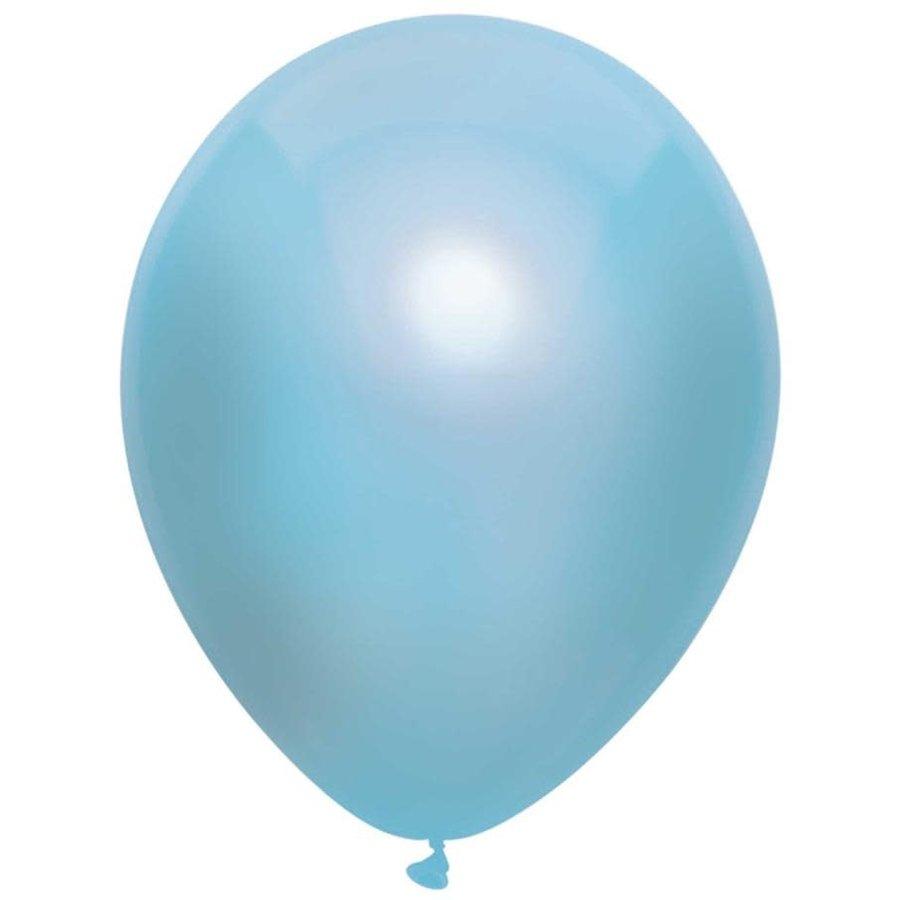 Ballonnen Metallic Licht Blauw 30cm 10st-1
