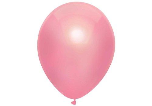 Ballonnen Metallic Roze 30cm 10st