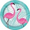 Flamingo bord papier 8 stuks