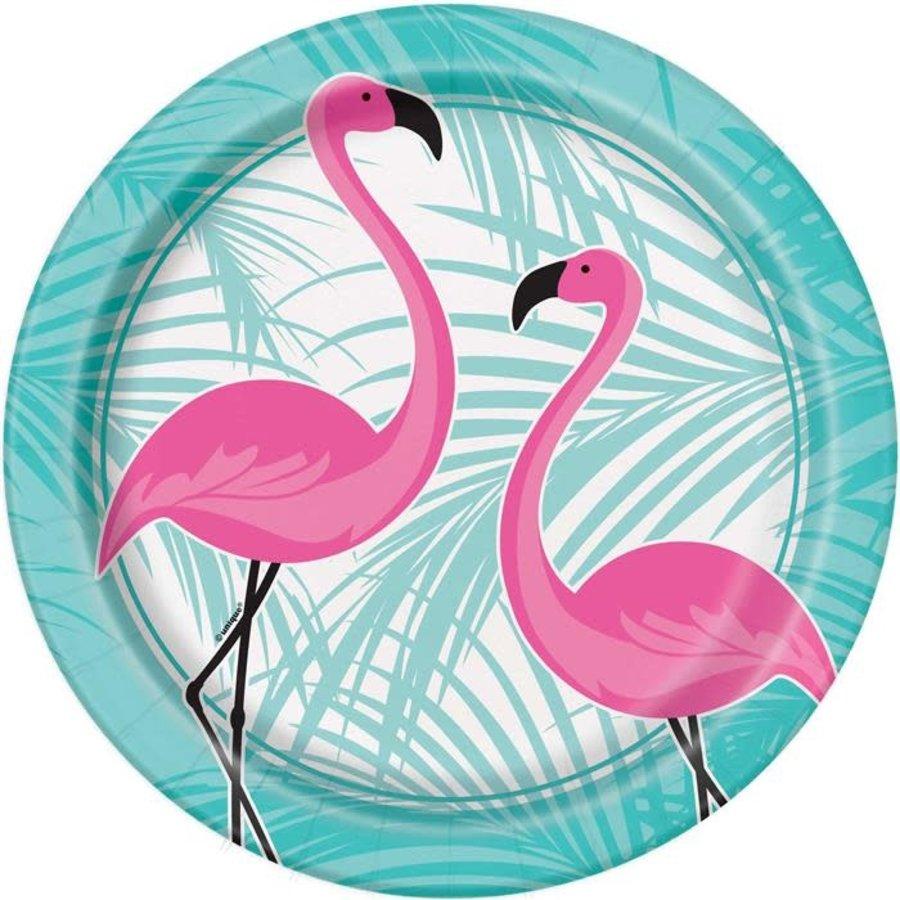 Flamingo bord papier 8 stuks-1