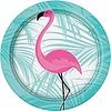 Flamingo bord papier 8 stuks 1 flamingo