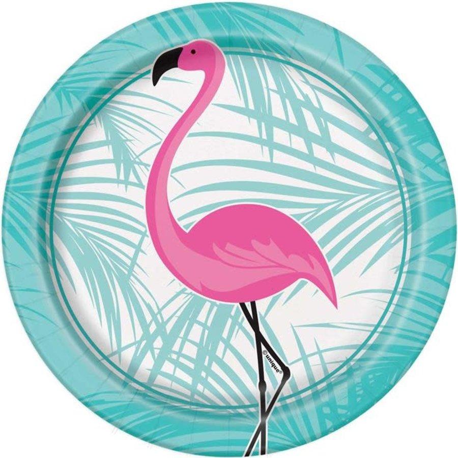 Flamingo bord papier 8 stuks 1 flamingo-1