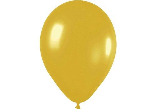 Ballonnen Metallic Goud 30cm 10st