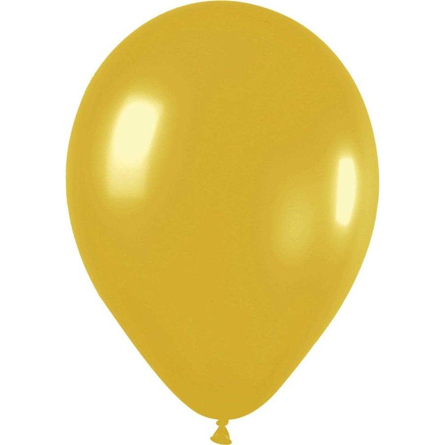 Ballonnen Metallic Goud 30cm 10st-1