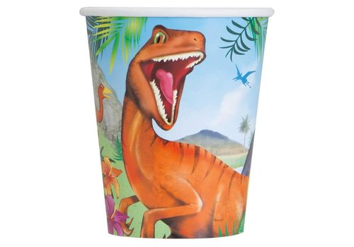 Bekers Dinosaurus 25cl 8st