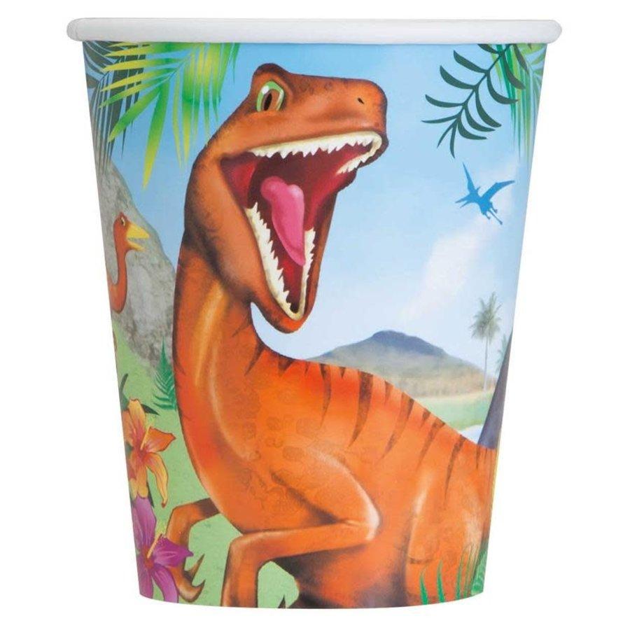 Bekers Dinosaurus 25cl 8st-1
