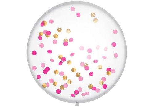 """XL Confettiballon """"Princess Pink"""" 60cm"""