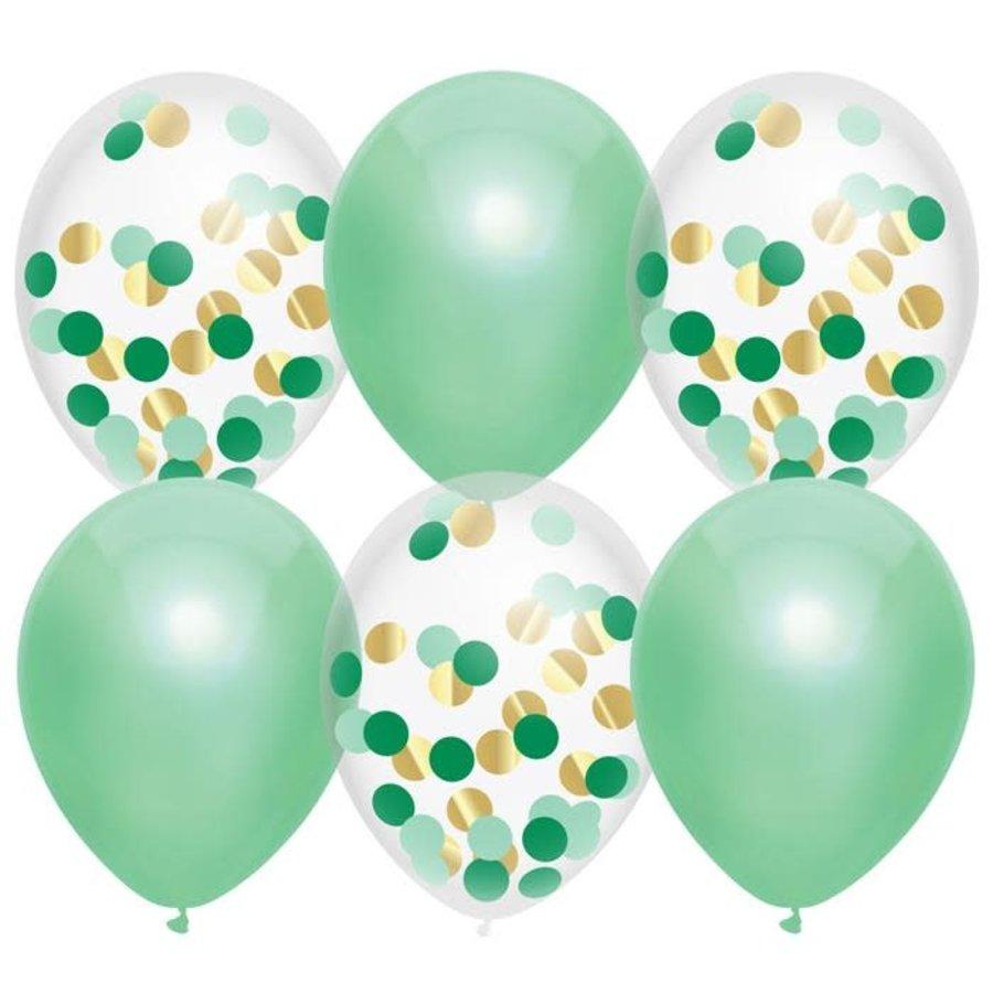 Ballonnen mix Lovely Mint 30cm 6st-1