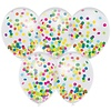 Confettiballonnen met multicolor confetti 30cm 5st