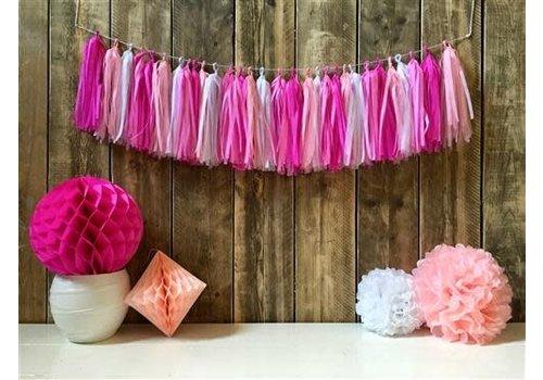 Tassel slinger roze DIY