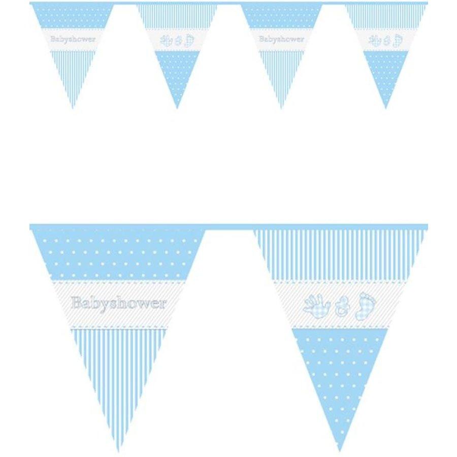 Vlaggenlijn PE Babyshower jongen 10m-1