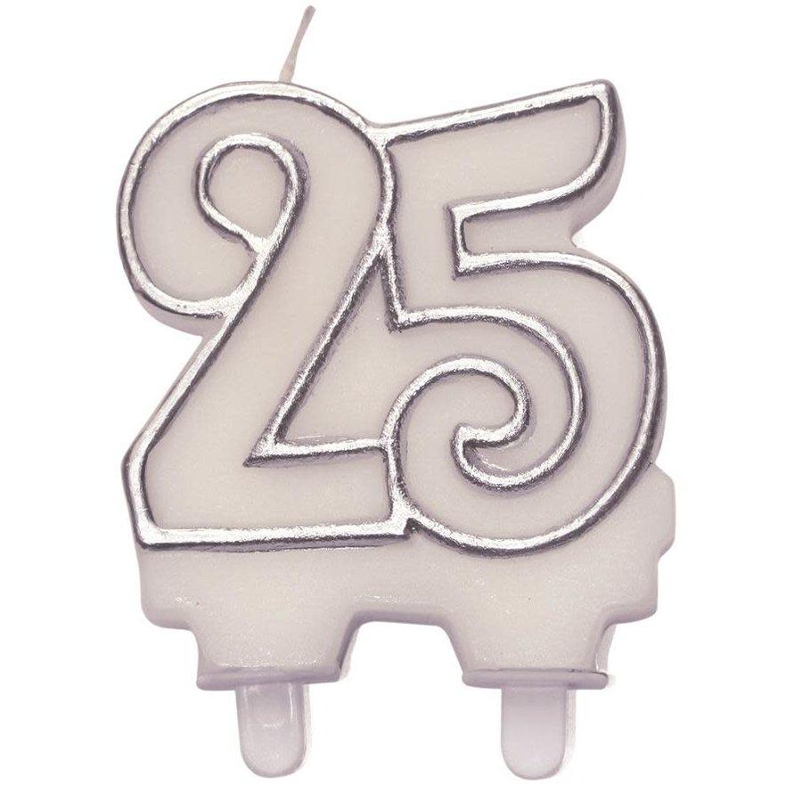 Cijferkaars zilver ''25''-1