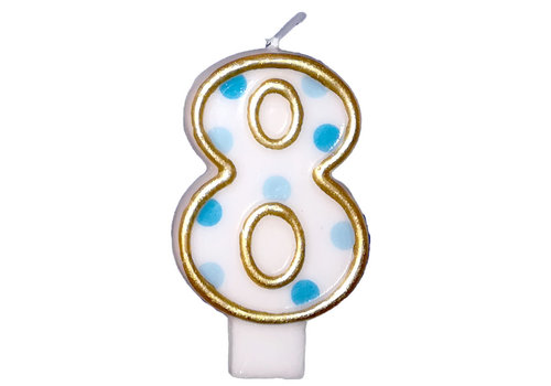 "Cijferkaars Blauw ""8"""