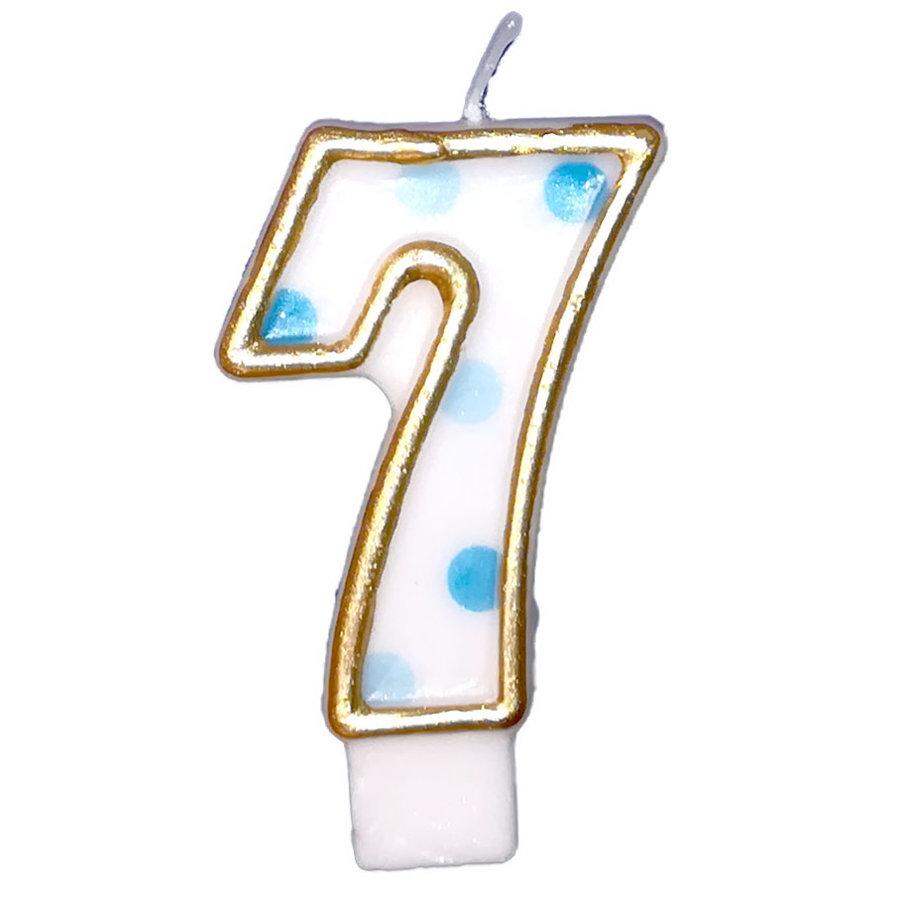 "Cijferkaars Blauw ""7""-1"