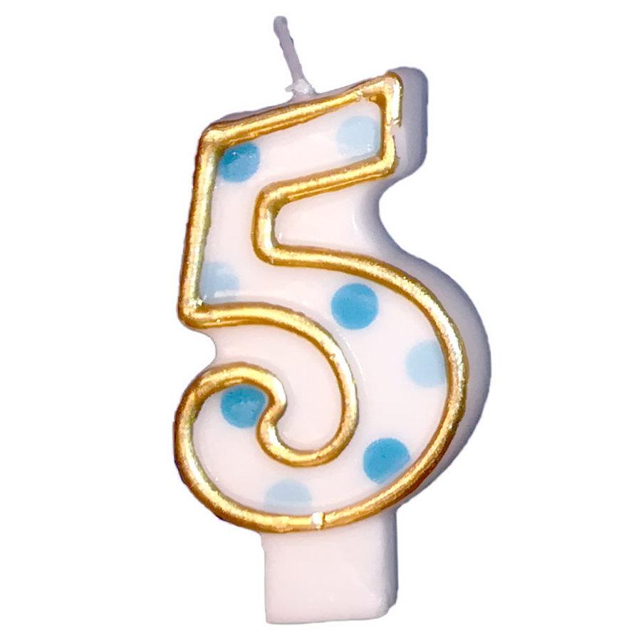 "Cijferkaars Blauw ""5""-1"