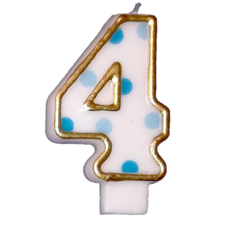 "Cijferkaars Blauw ""4""-1"