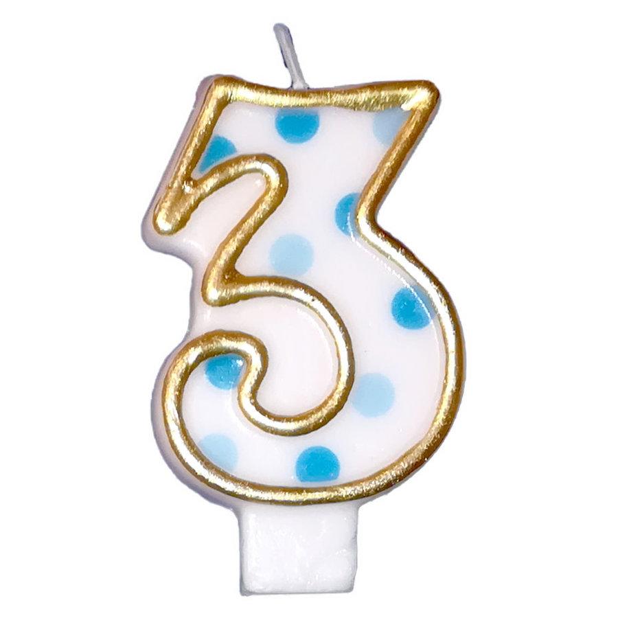 "Cijferkaars Blauw ""3""-1"