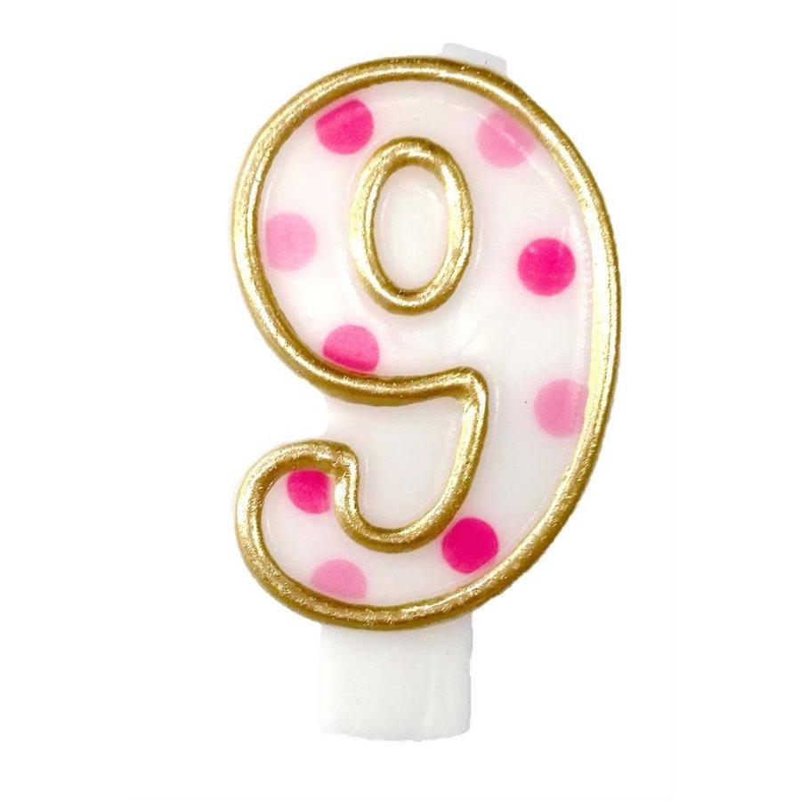 "Cijferkaars Roze ""9""-1"
