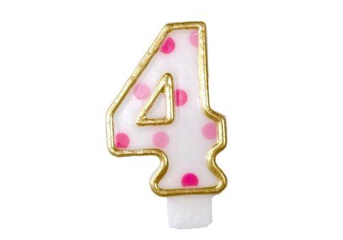 "Cijferkaars Roze ""4"""