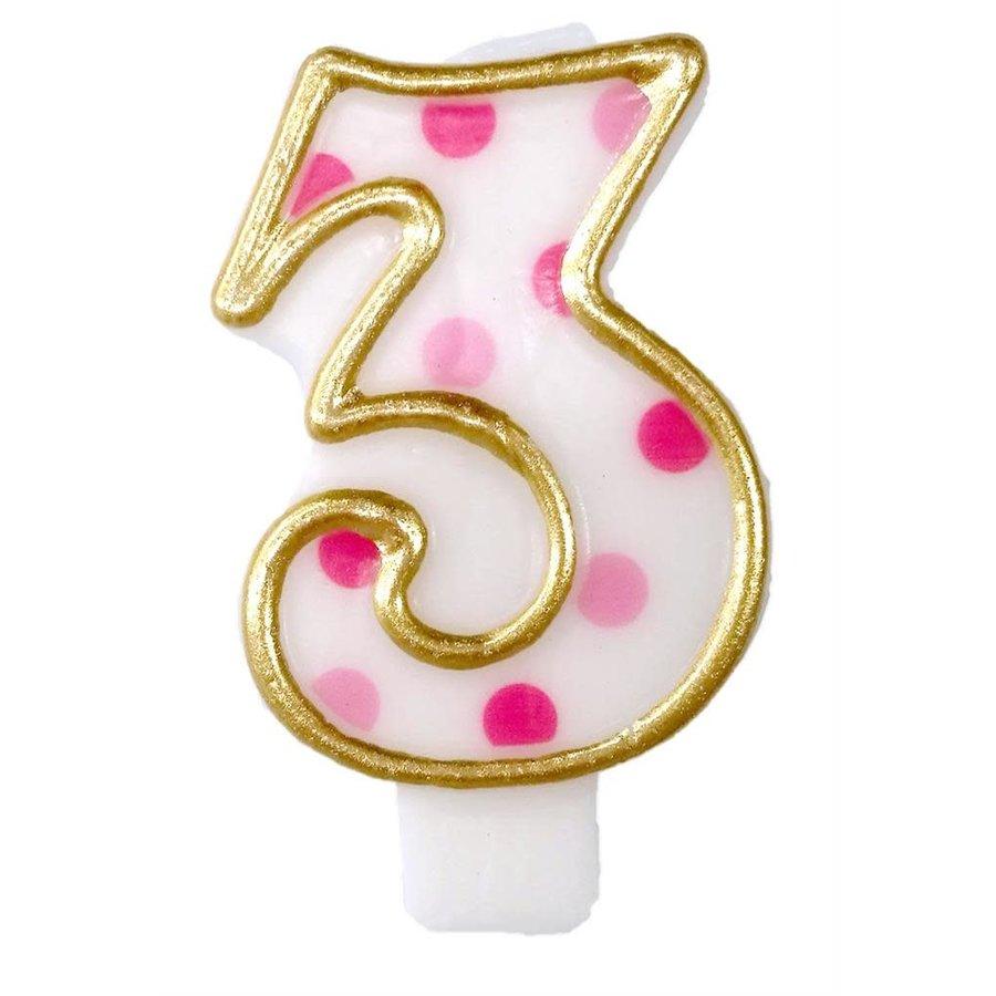 "Cijferkaars Roze ""3""-1"