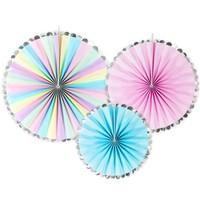 PartyDeco Decorative Rosettes Unicorn Mix Set/3