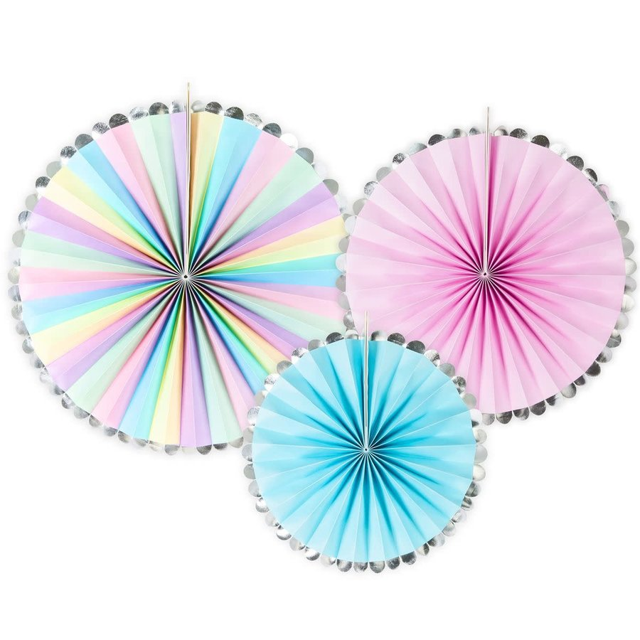 PartyDeco Decorative Rosettes Unicorn Mix Set/3-1