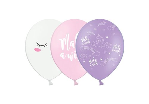 PartyDeco Ballonnen Unicorn Mix Set/6