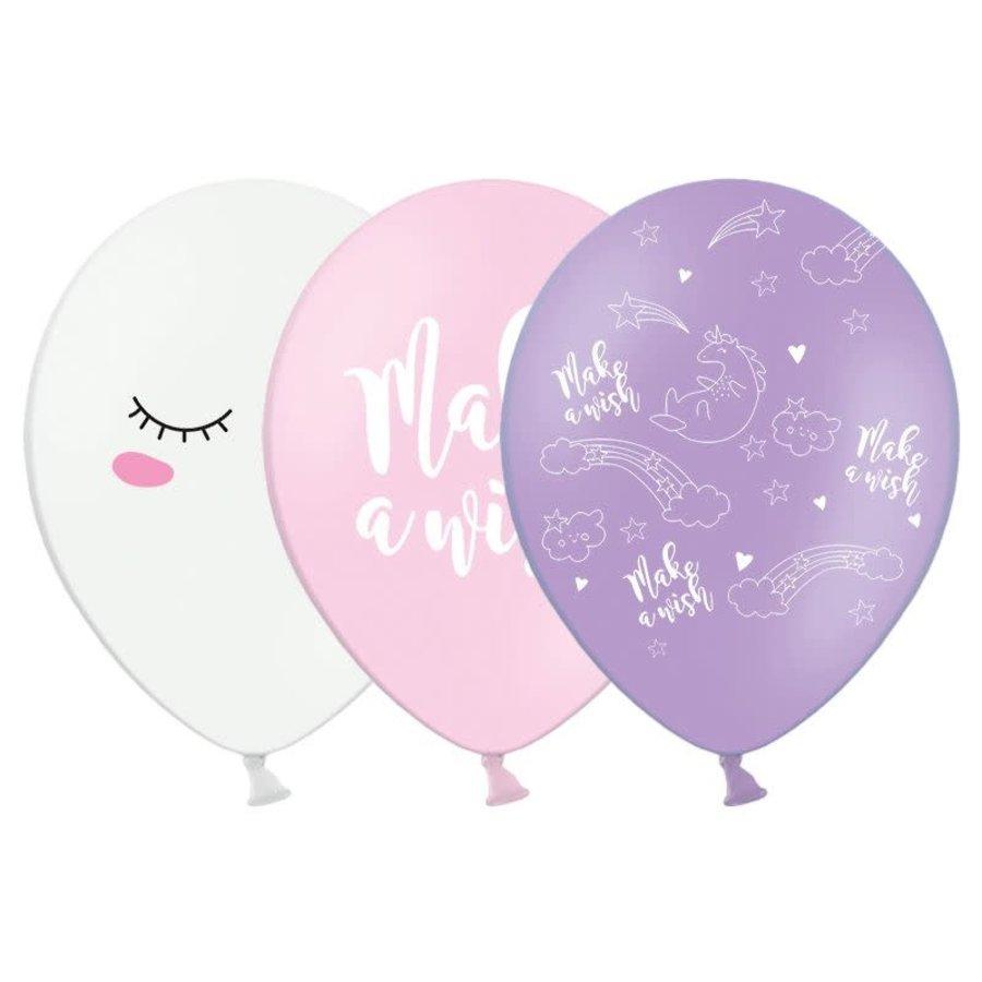 PartyDeco Ballonnen Unicorn Mix Set/6-1