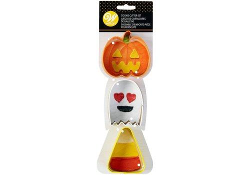 Wilton Cookie Cutter Pumpkin-Ghost-Candy Corn Set/3