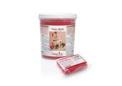 saracino modeling paste red rood 1kg