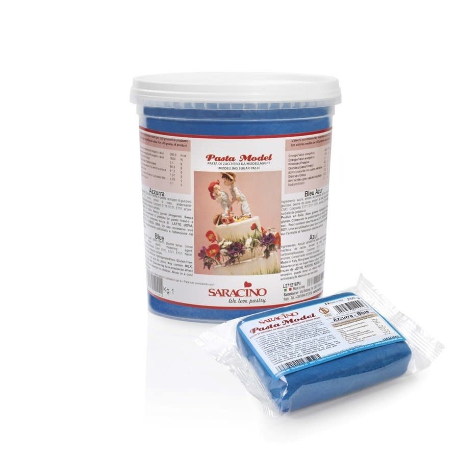 saracino modeling paste blue blauw 1kg-1