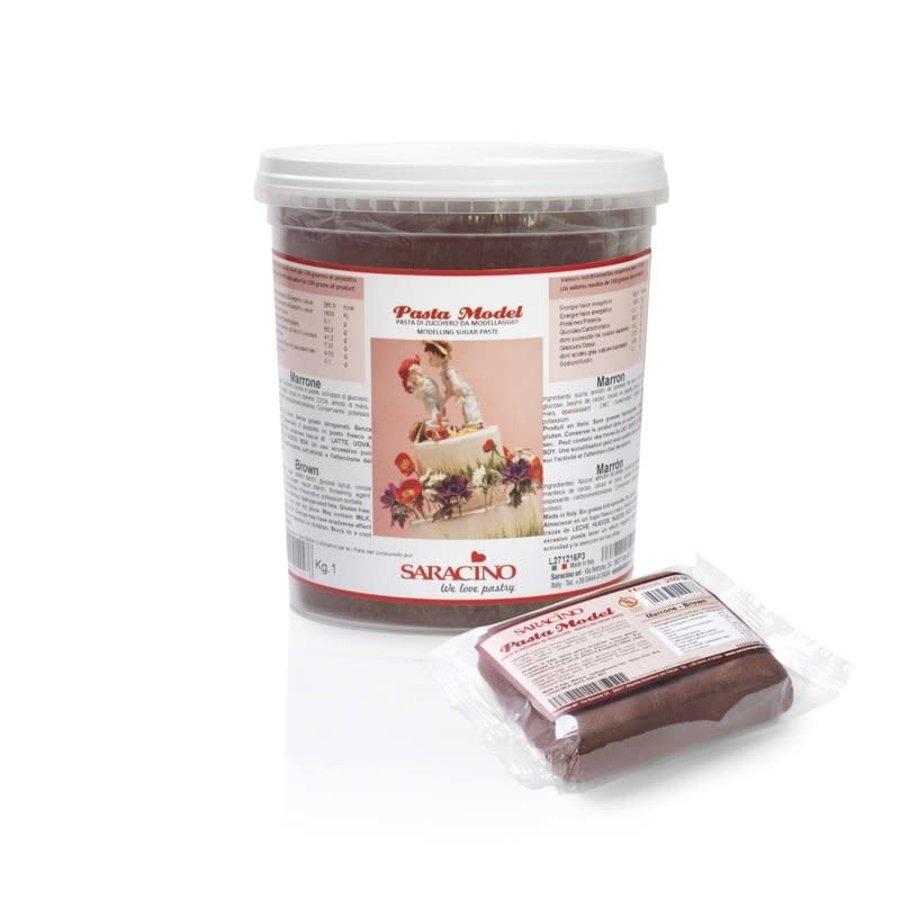 saracino modeling paste brown bruin 1kg-1